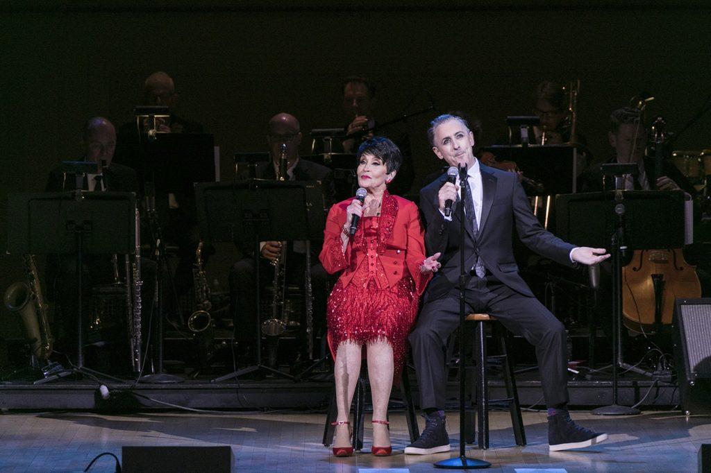 Chita Rivera and Alan Cumming. Photo by Koitz