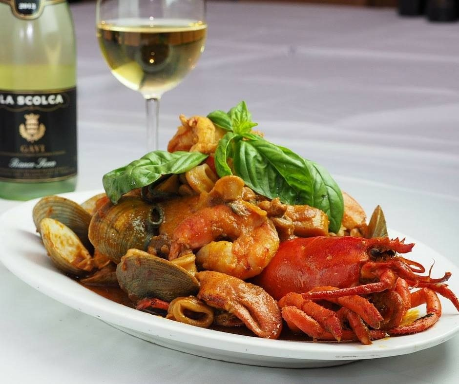 """A Bronx """"Tail"""": Lobster tail with clams, mussels, and shrimp is an entree option on the Prix-Fixe. Photo courtesy of Hall PR, Chazz Palminteri Ristorante Italiano"""