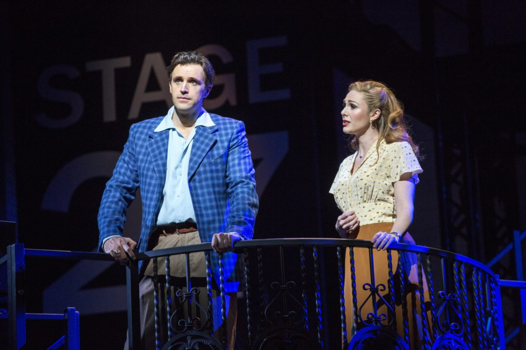 """Michael Xavier & Siobhan Dillon in """"Sunset Boulevard"""". Photo by Joan Marcus"""