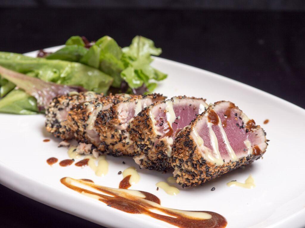 Sesame crusted tuna. Photo courtesy of Ben & Jack's Steakhouse.