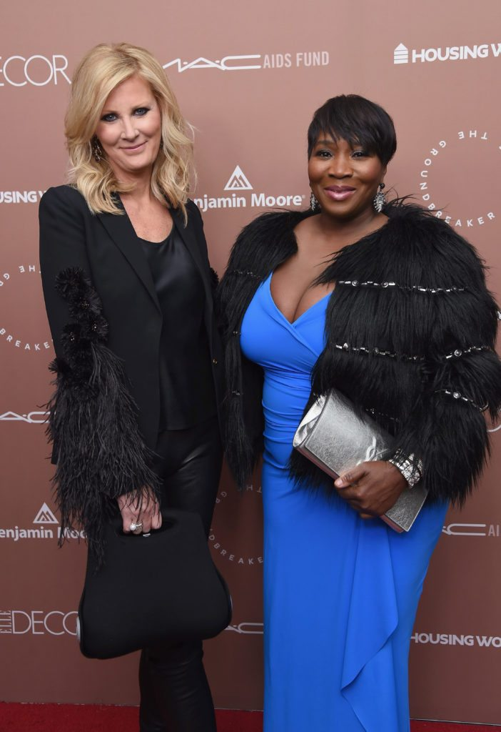 NEW YORK, NY - APRIL 26:  Chair of the Groundbreaker Awards Dinner Sandra Lee and TV personality Bevy Smith attend the Housing Works Ground Breaker Awards Dinner on April 26, 2017 in New York City.  (Photo by Gary Gershoff/Getty Images for Housing Works)