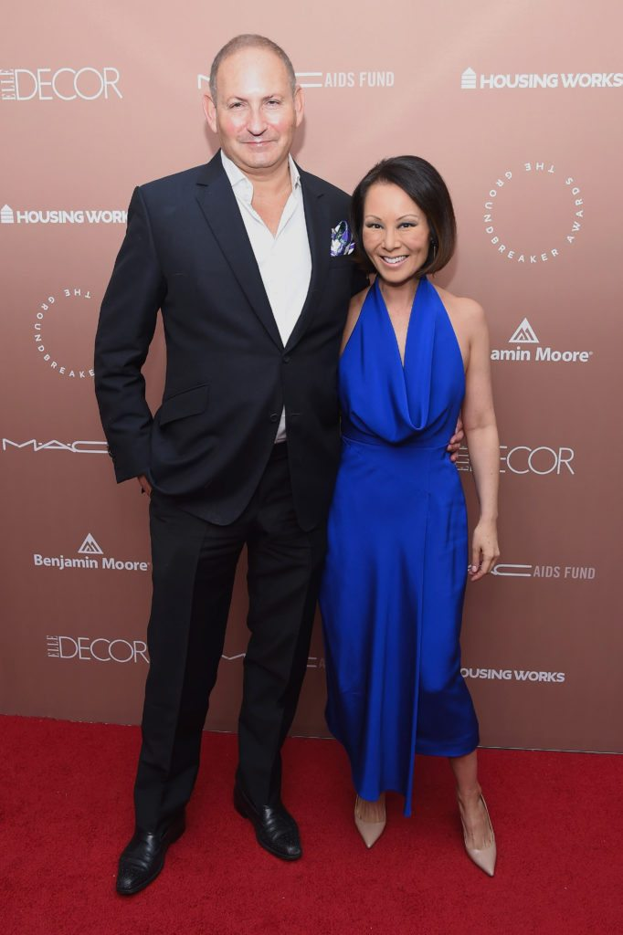 NEW YORK, NY - APRIL 26:  Estee Lauder Executive Group President and Honoree John Demsey and journalist and editor Alina Cho attends the Housing Works Ground Breaker Awards Dinner on April 26, 2017 in New York City.  (Photo by Gary Gershoff/Getty Images for Housing Works)