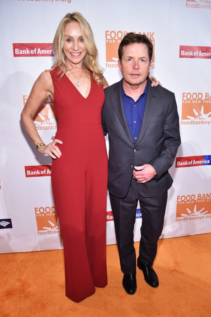 NEW YORK, NY - APRIL 19: Tracy Pollan and Michael J. Fox attend the Food Bank for New York City Can-Do Awards Dinner 2017 on April 19, 2017 in New York City. (Photo by Kevin Mazur/Getty Images for Food Bank for New York City)