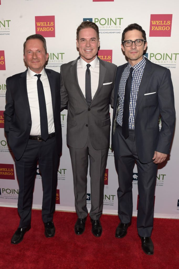 NEW YORK, NY - APRIL 03:  (L-R) Special Assistant and LGBTQ advisor to President Clinton, Richard Socarides, Executive director and CEO of Point Foundation, Jorge Valencia, and actor Charles Socarides attend the Point Honors Gala at The Plaza Hotel on April 3, 2017 in New York City.  (Photo by Jason Kempin/Getty Images for Point Foundation)