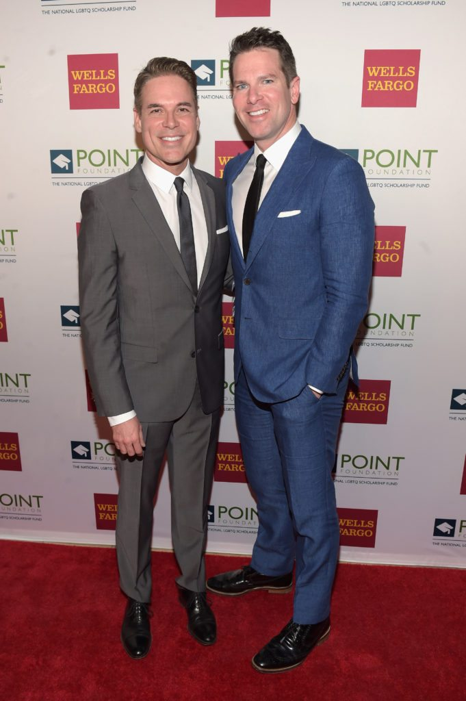 NEW YORK, NY - APRIL 03:  Executive director and CEO of Point Foundation, Jorge Valencia, and honoree and news anchor for MSNBC, Thomas Roberts attend the Point Honors Gala at The Plaza Hotel on April 3, 2017 in New York City.  (Photo by Jason Kempin/Getty Images for Point Foundation)