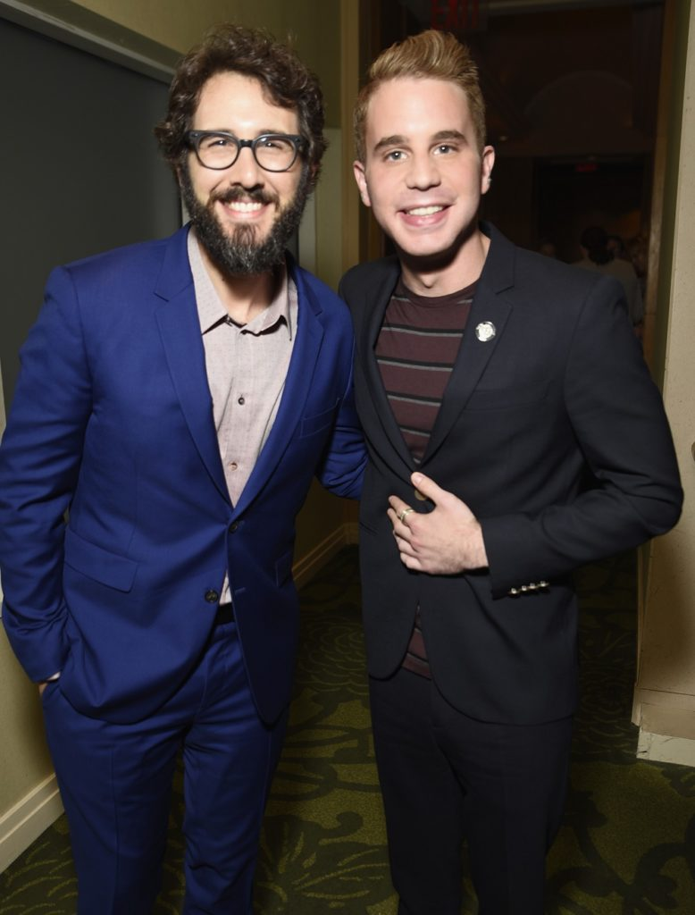 NEW YORK, NY - MAY 03: Josh Groban and Ben Platt attend the 2017 Tony Awards Meet The Nominees Press Junket at the Sofitel Hotel on May 3, 2017 in New York City.  (Photo by Jenny Anderson/Getty Images for Tony Awards Productions)