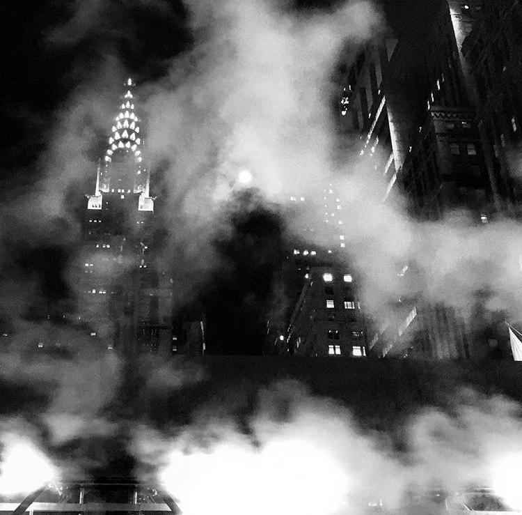 Moon Over Chrysler Building